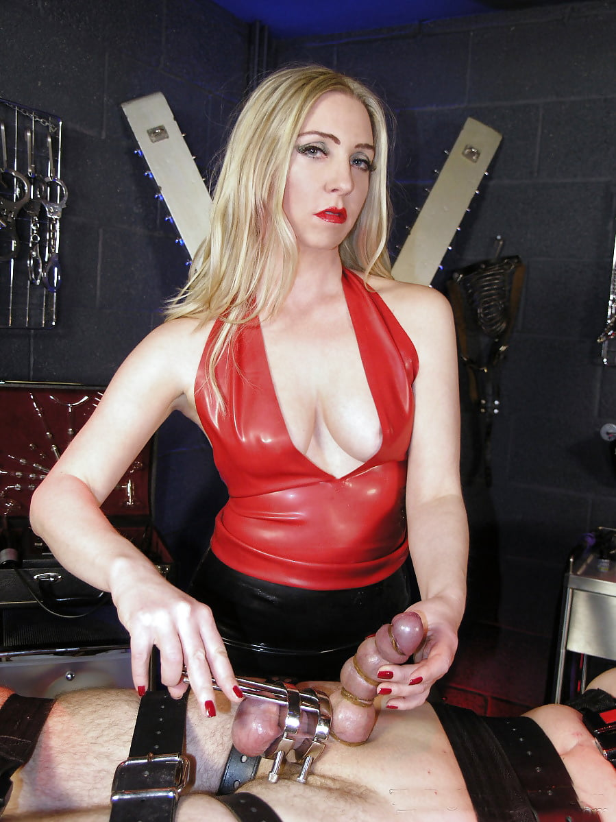 Mistress tangent fills his hungry holes with femdom torment