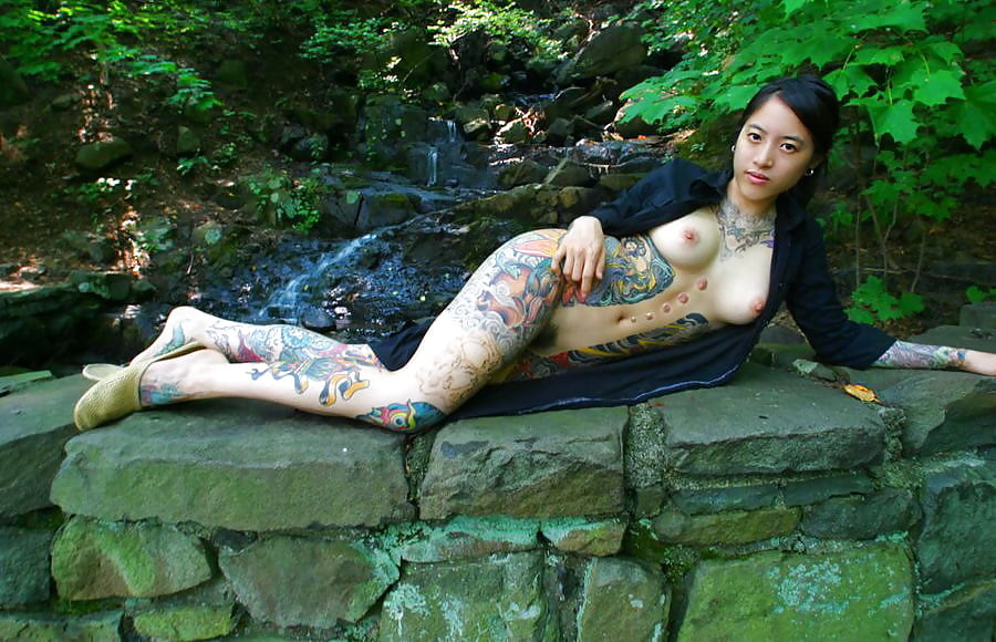 Naked small girls with tattoos