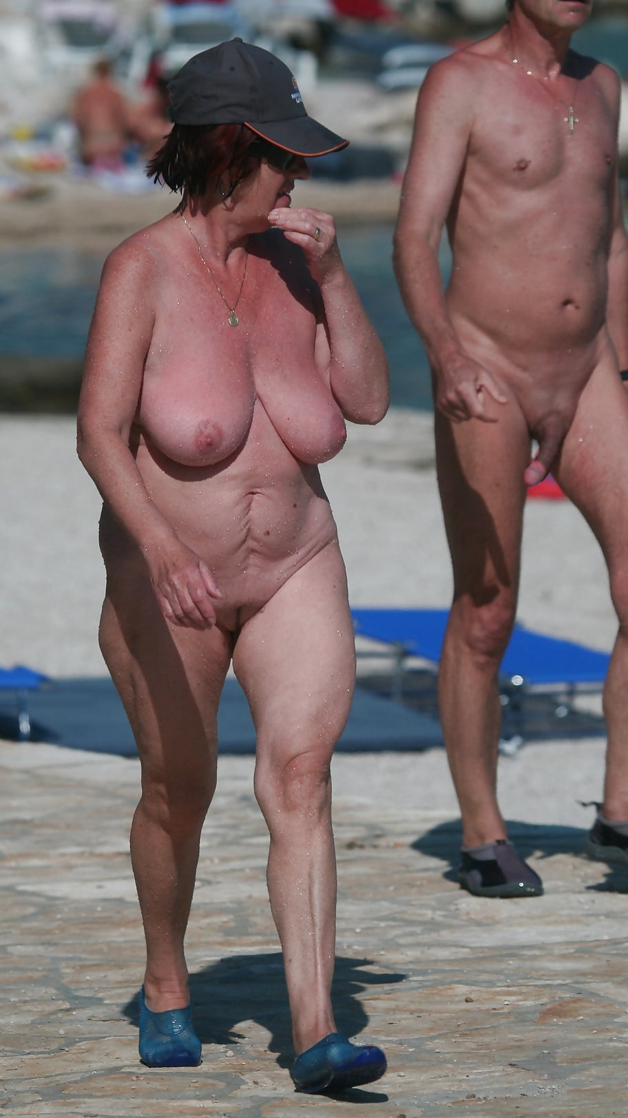 Old person at nudist beach, croatian babe fuck