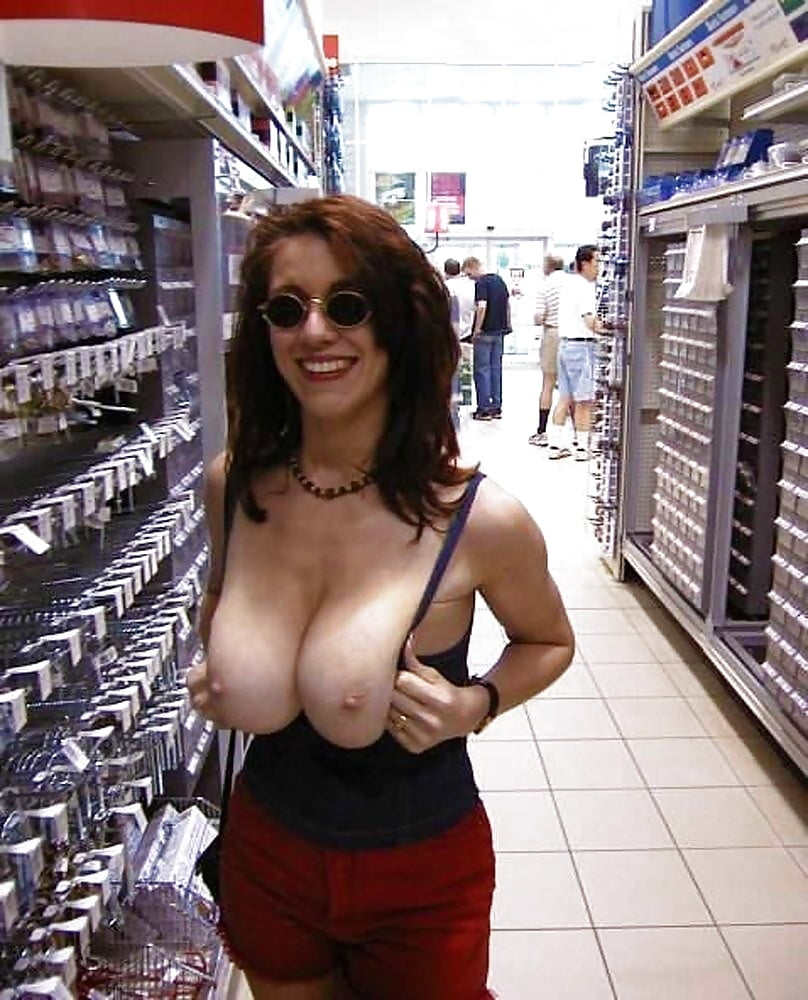 Casual big boobs in general public