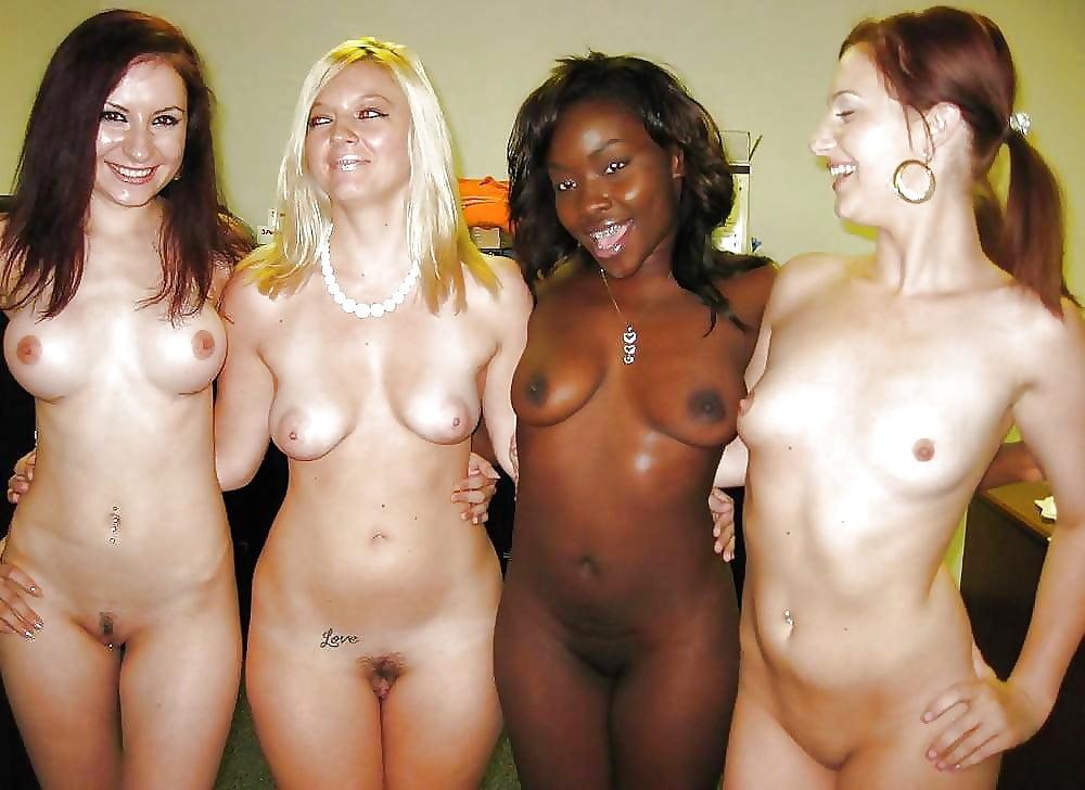 Amateur group girls flashing tits