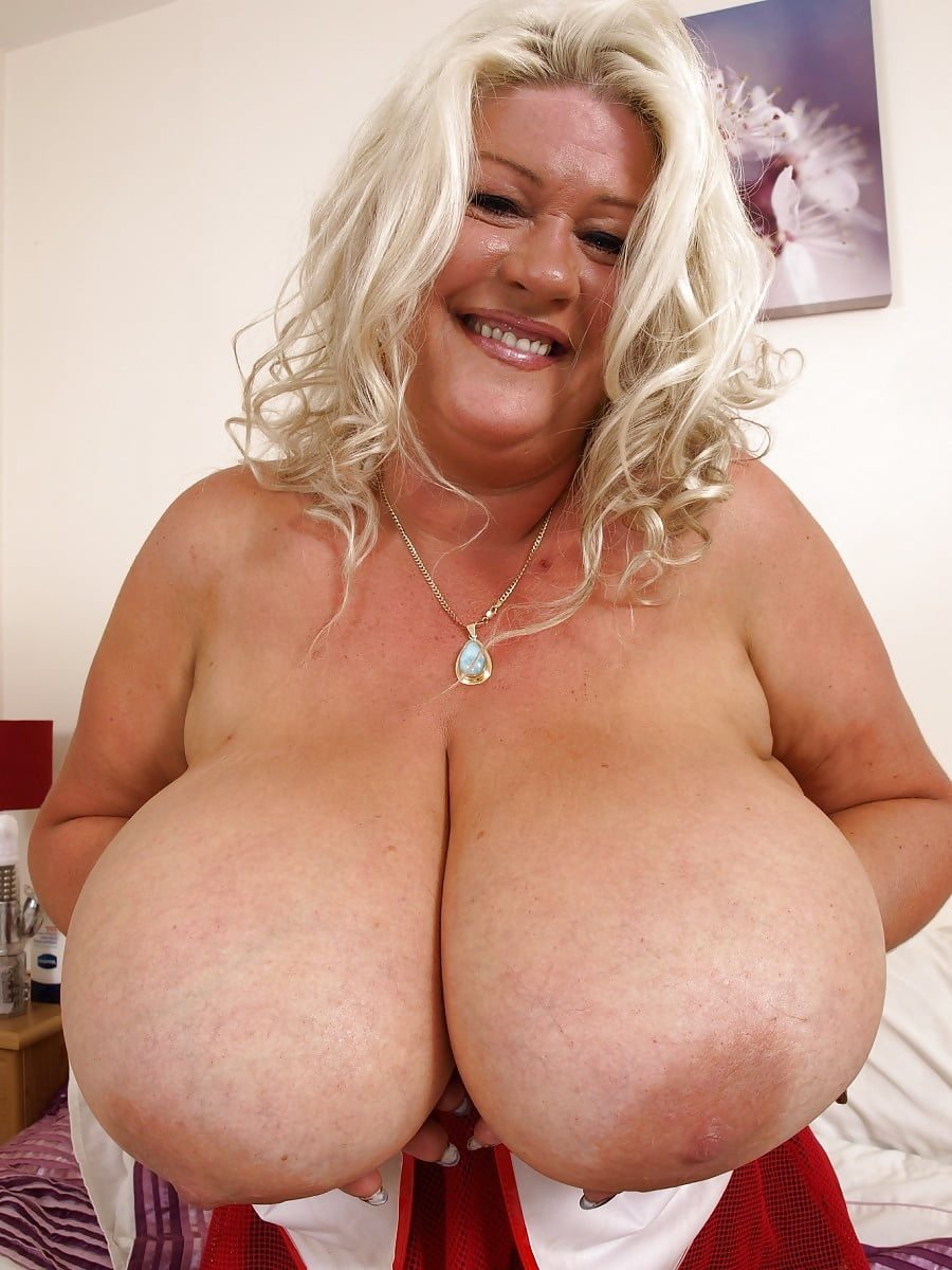 Huge boobs mature blonde