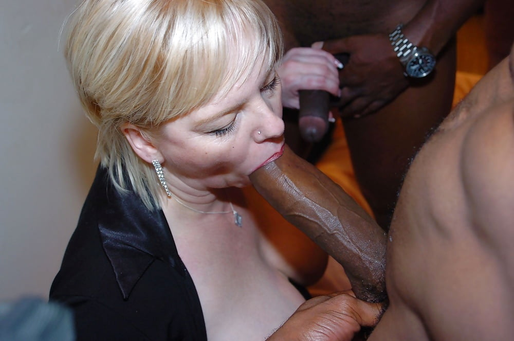Mature white pussy black cock