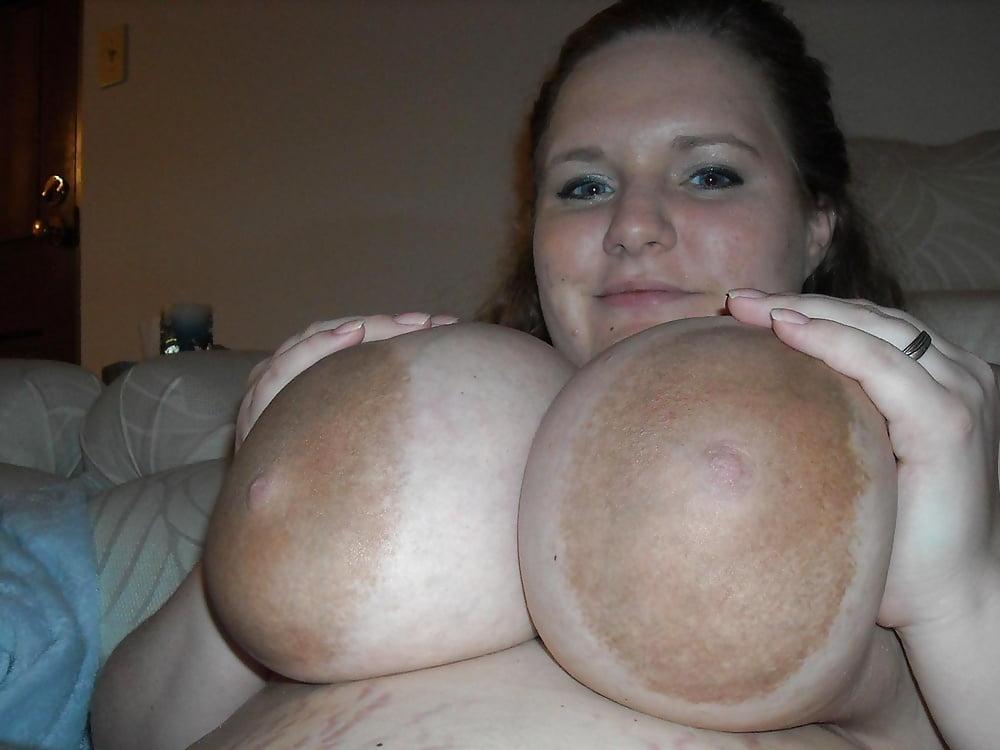 Chubby big nipples tits