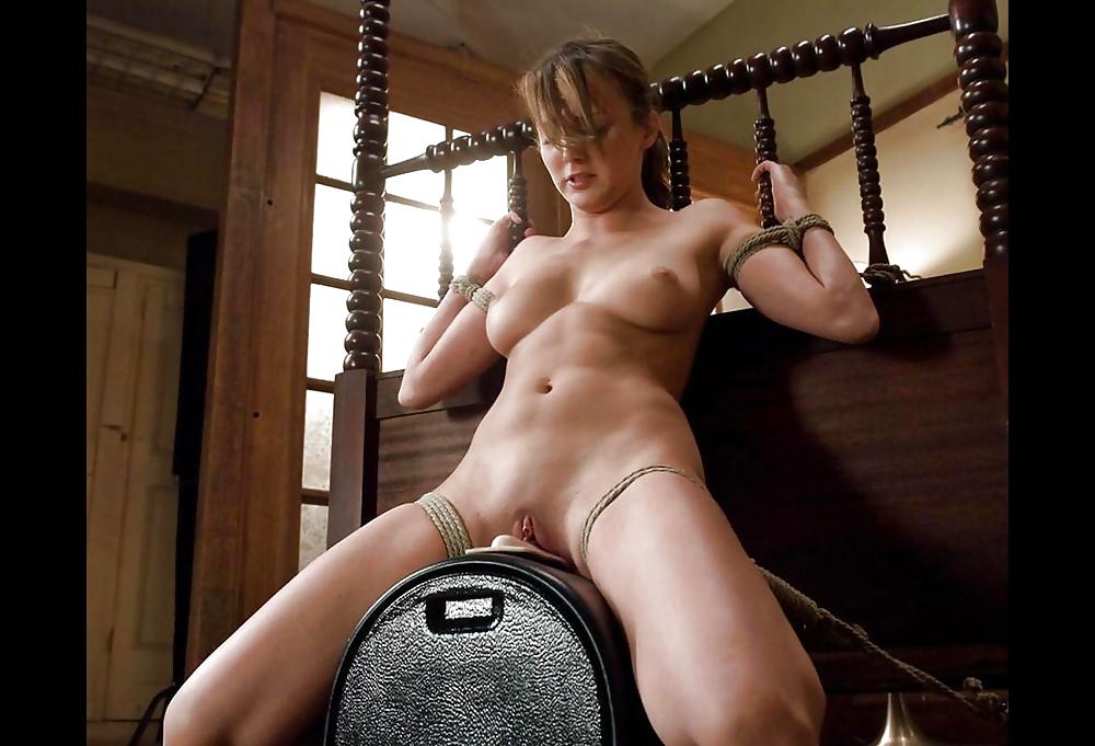 Sybian bondage pics