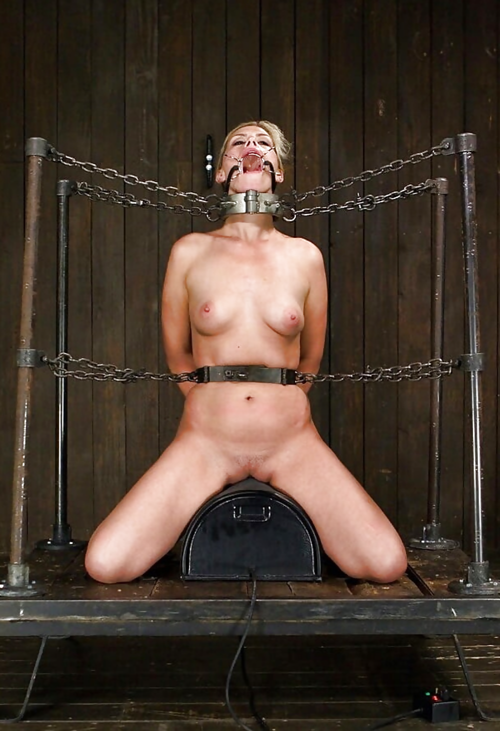 Whips, chains and bondage during bdsm play
