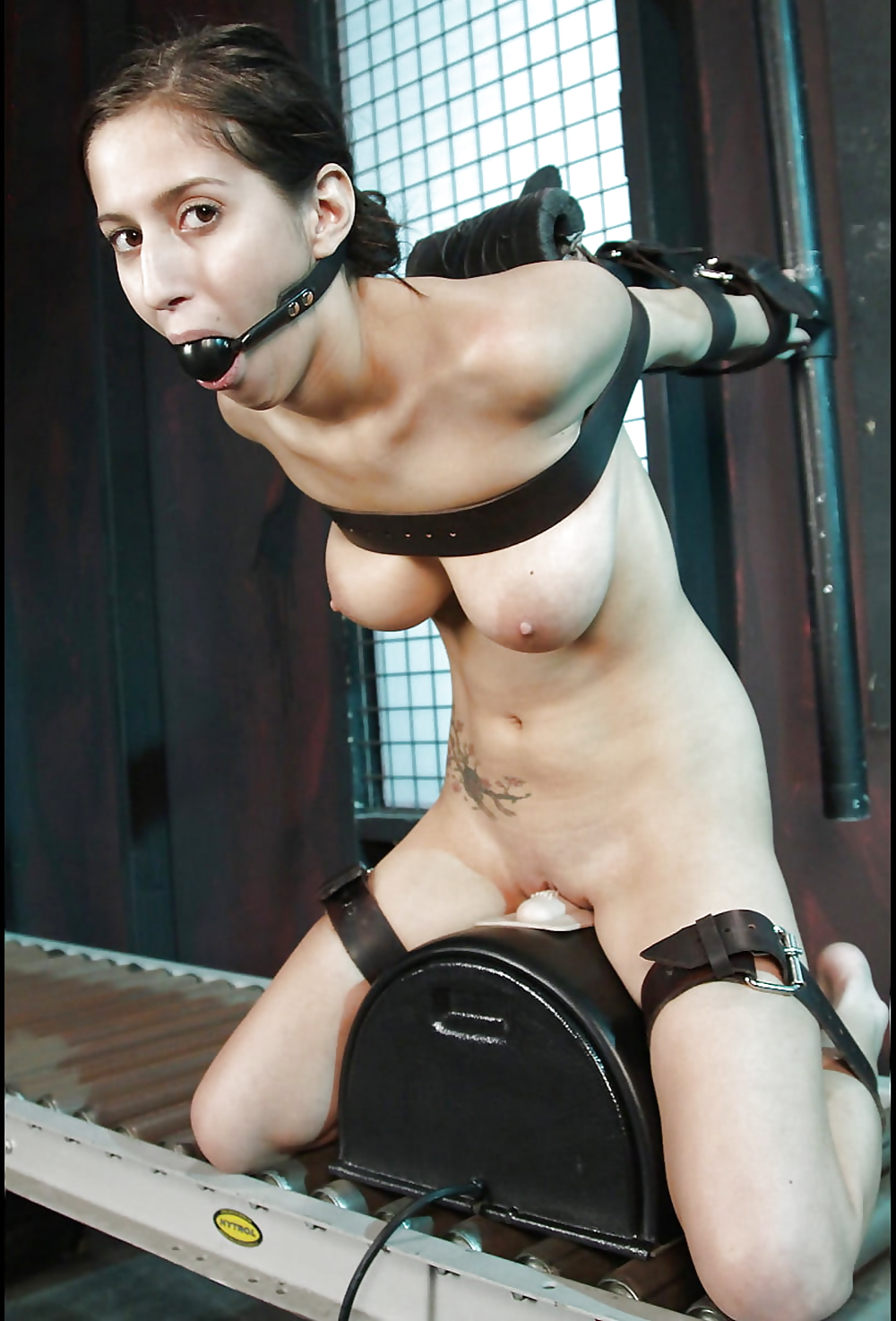 Kinky blonde whitney conroy parts her pussy lips to go for a ride on a sybian machine