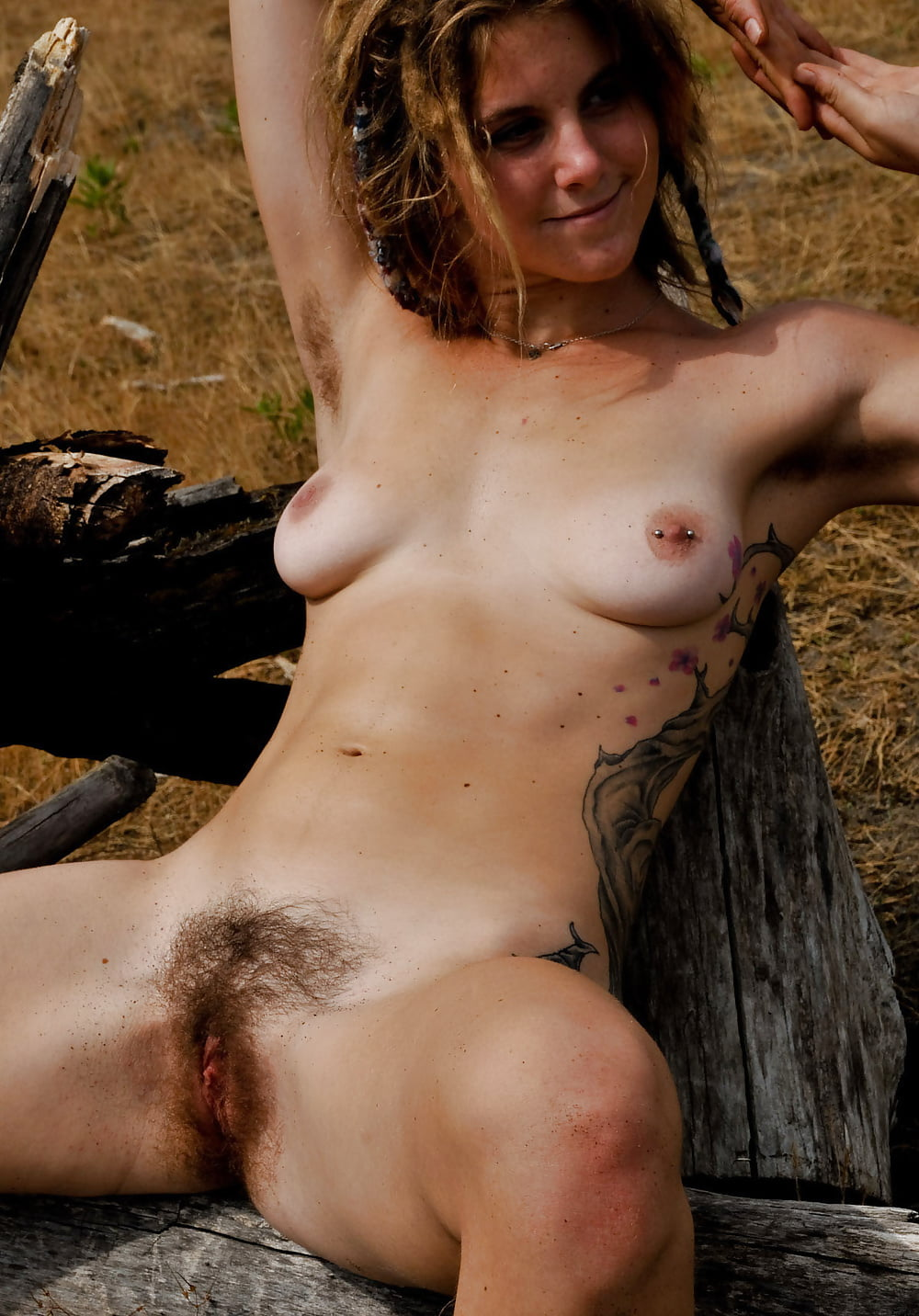 Unshaved Twat And Hairy Legs Hippy Girl
