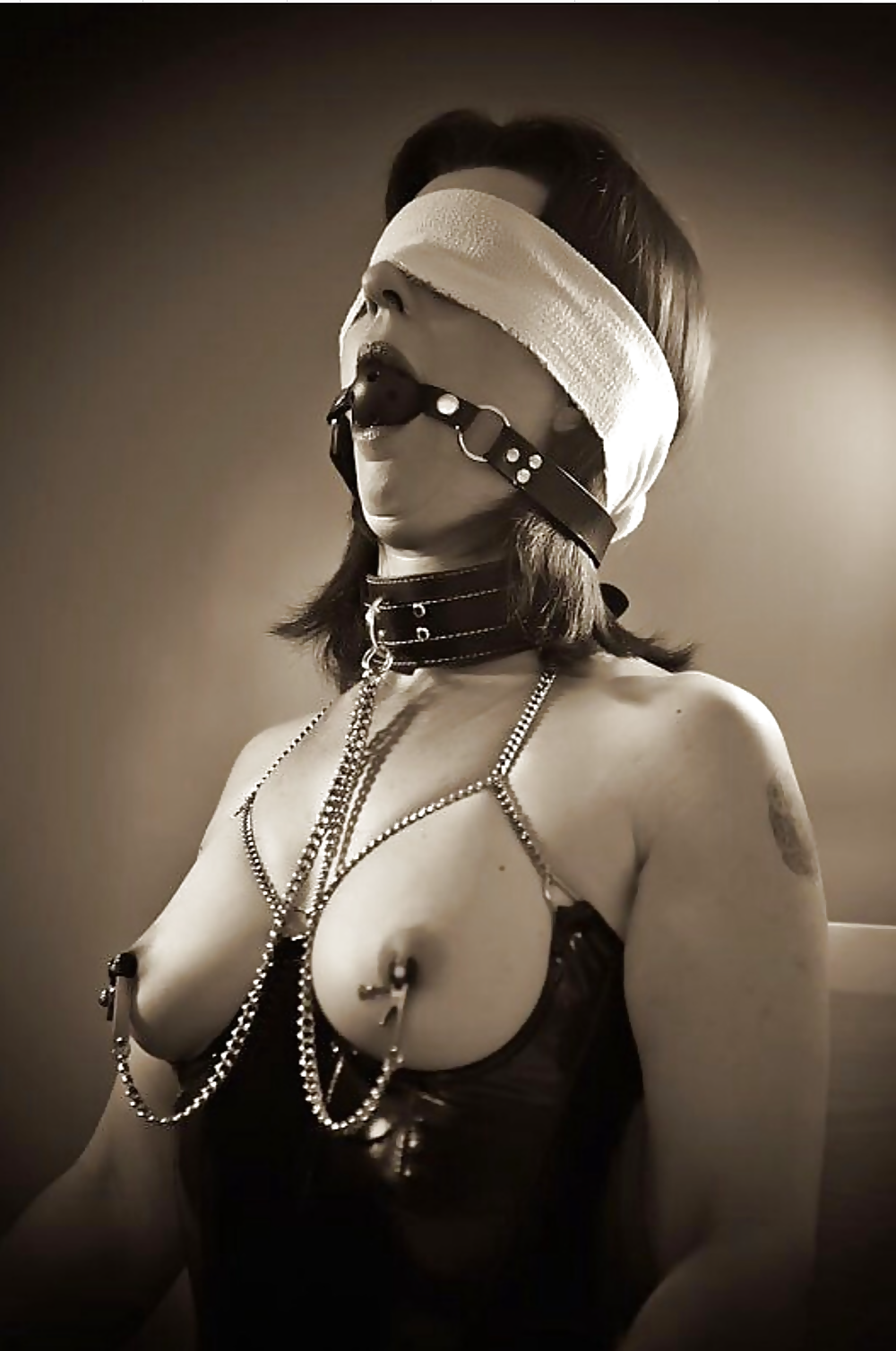 Erotic blindfolded sex