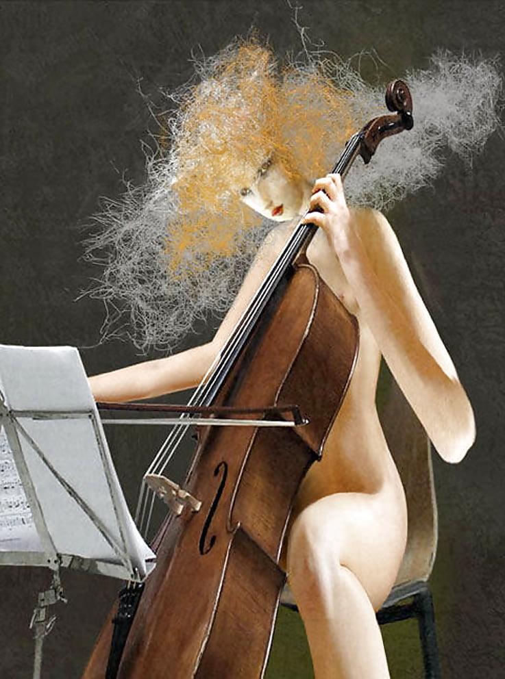 Masturbation with cello