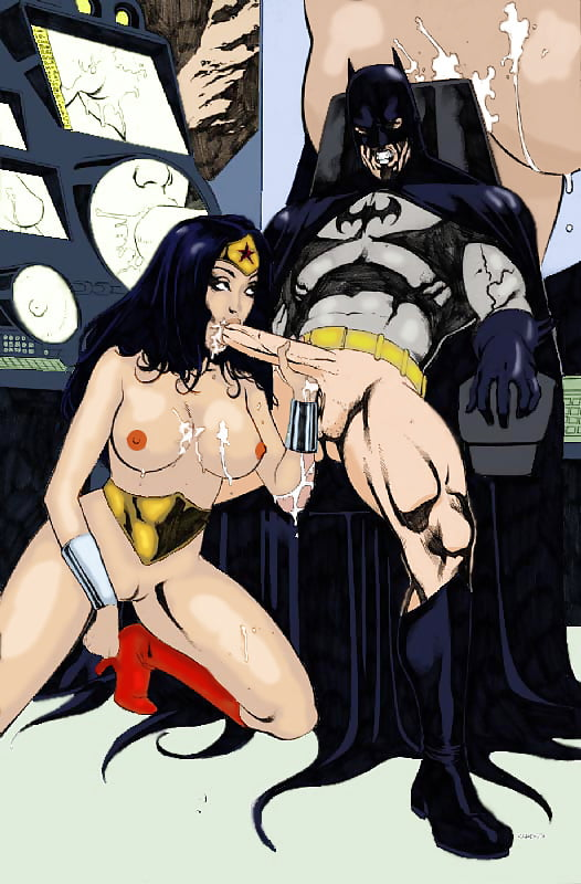 Wonder woman orally pleasures batman