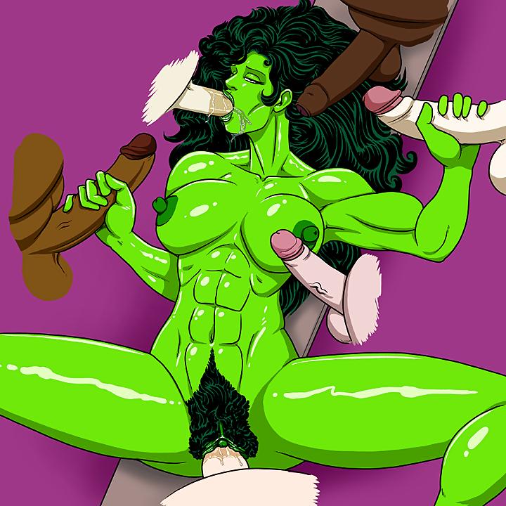 Power girl she hulk hentai