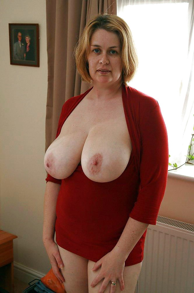 Wife's large breasts for you to enjoy