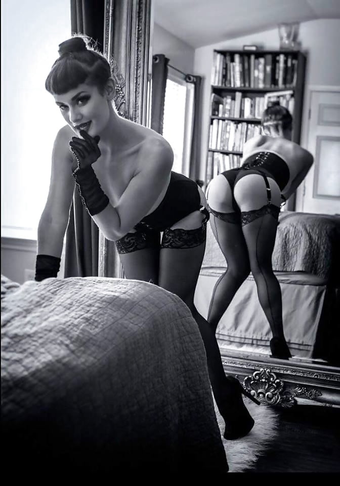 Erotic effect of garters and hose