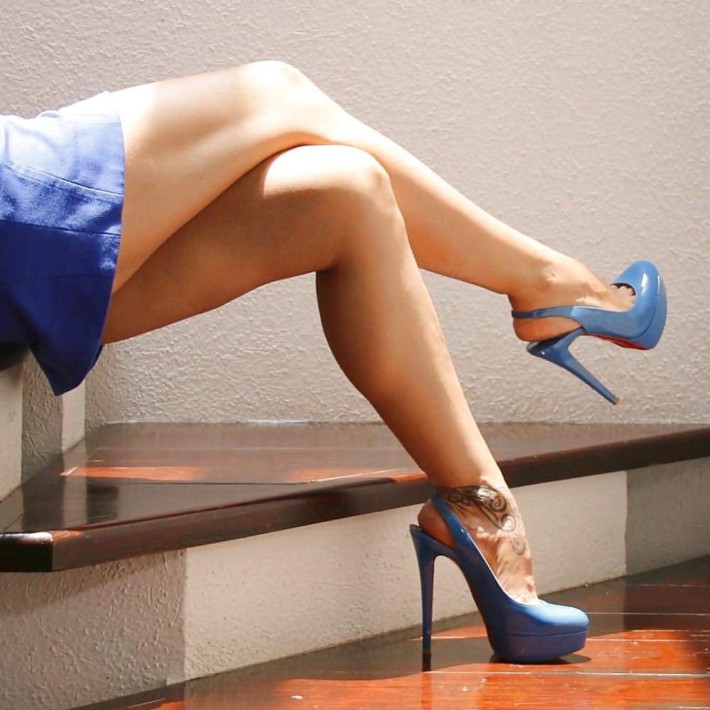 Sexy Legs High Heels Stock Photo