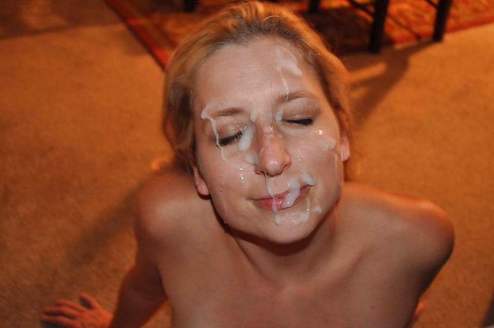 Dirty blonde slut first time sucking cock