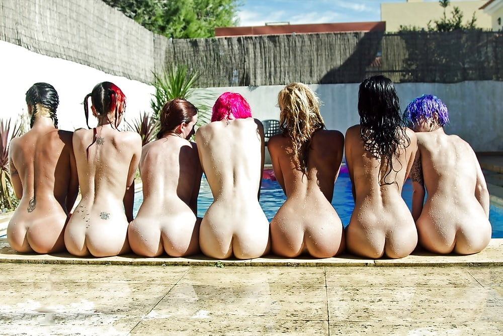 Cute nude bums