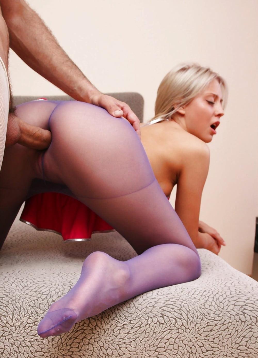 Порно фото секс девушек через колготки — pic 1