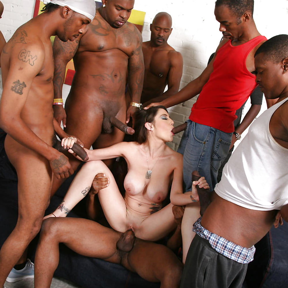 Blacks gangbang white wife
