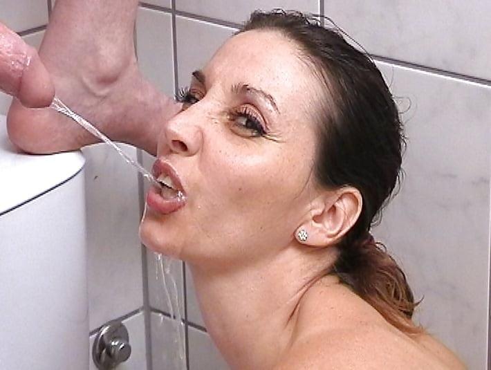 Mature pissing