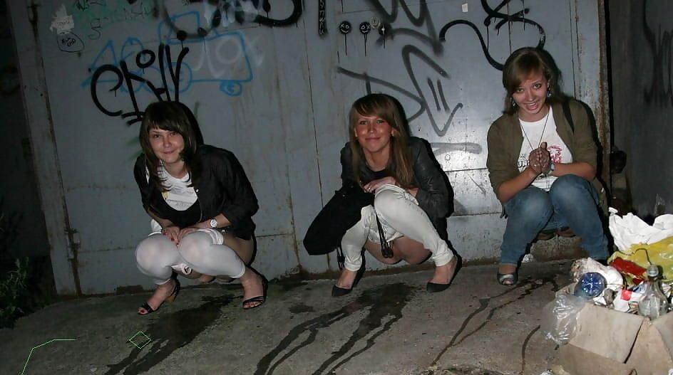 Фото пьяных писающих девушек