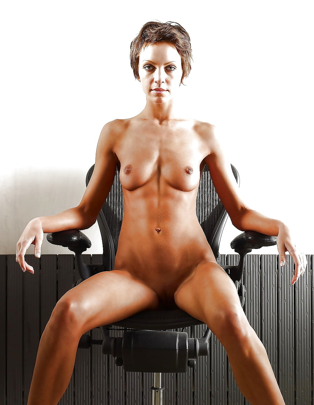 Hot sex naked on the chair — photo 12