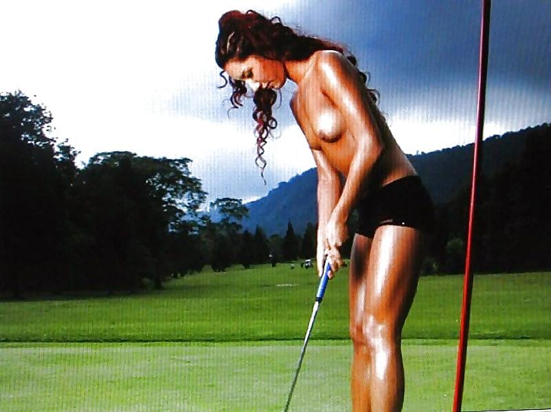 Sexy woman golfer photos