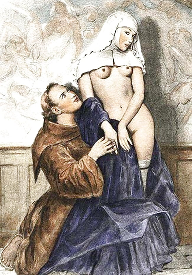 порнографические рисунки монахинь эти
