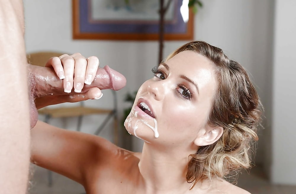 Caramel and facial cumshot