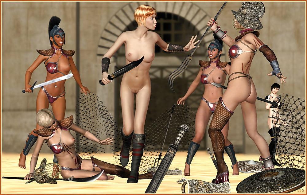 Nude Female Roman Gladiators
