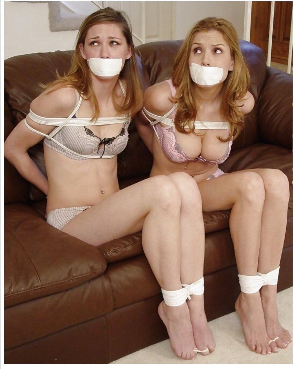 Sexy girls bound gagged