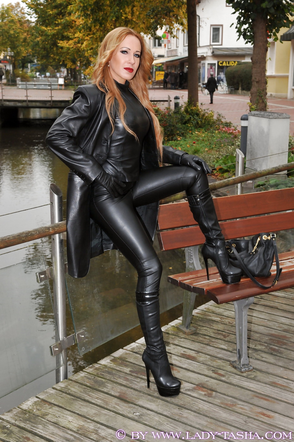 Leather boots bitch