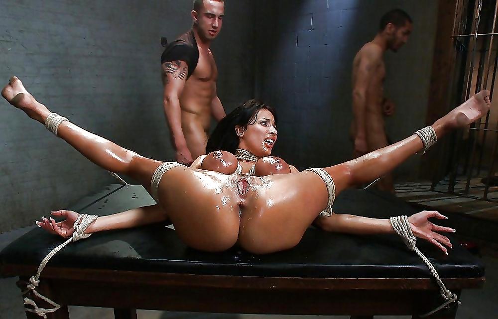 Nasty mistress in pervert domination with three tied up guys whip bdsm bond tnaflix porn pics