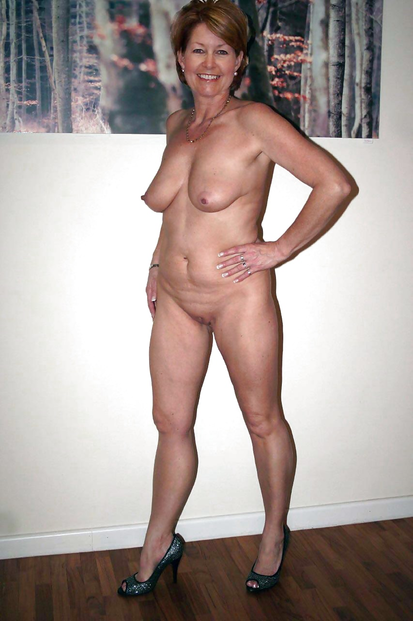 Beautiful Mature Woman Lingerie Posing Studio Stock Photo