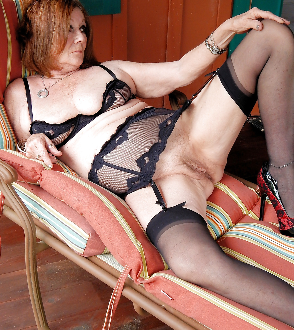 British housewife ruby in black stockings and high heels fucking and sucking
