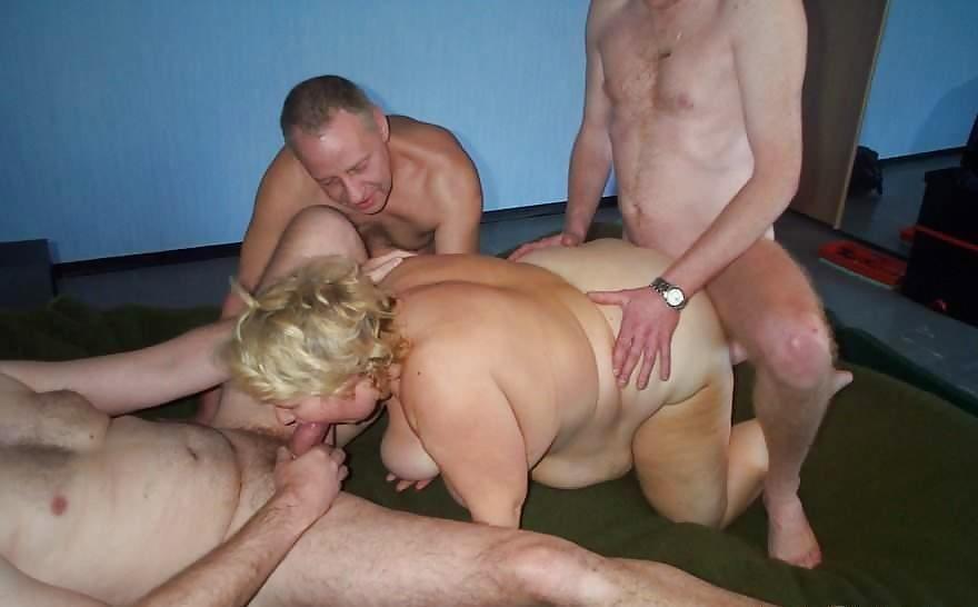 групповуха с толстой женой - 8