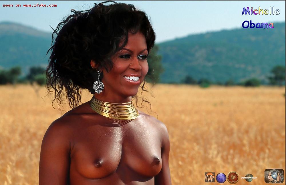 Michelle obama naked fake