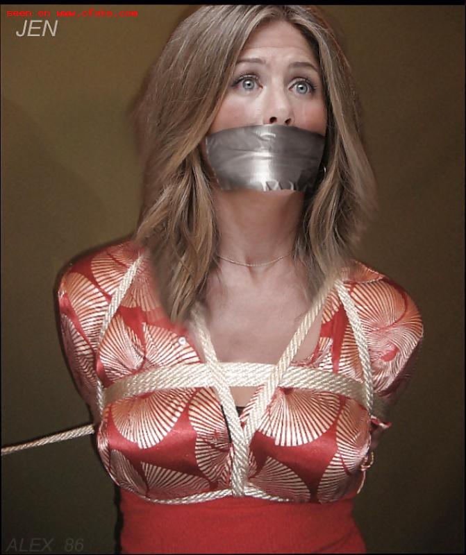Jennifer Aniston Tied Up Crying Bdsm Fetish Stufferdb 1