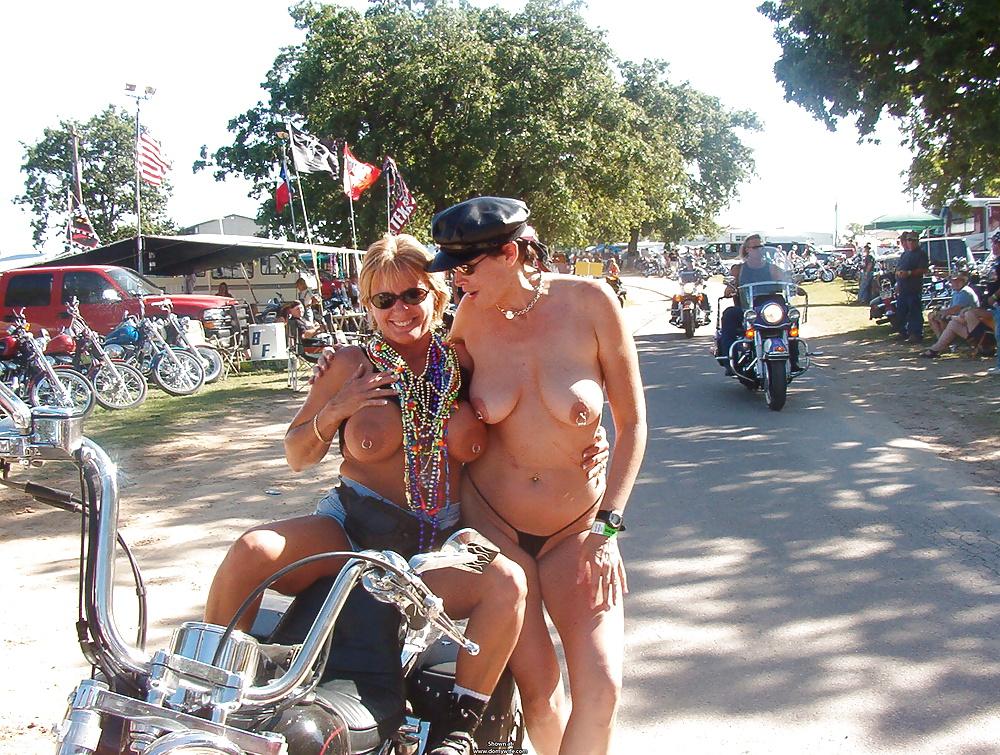 Wet ultra hot iowa biker chicks naked in public