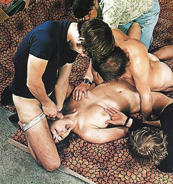 Aja, jon dough, robin lee in vintage sex scene