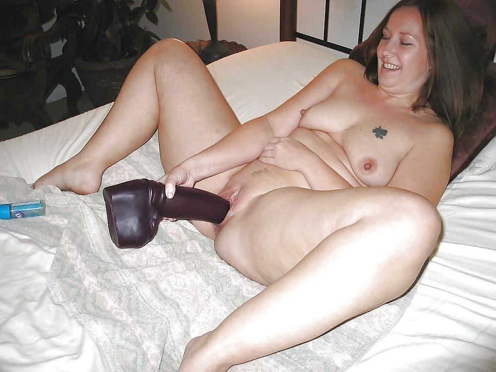 Wife playing with vibrator