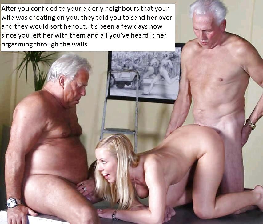 истеричная соседская молодая трахается стариком порно фото