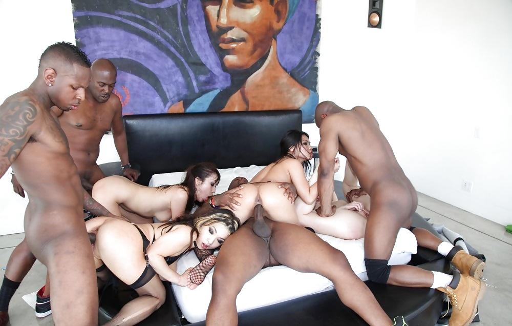 Orgy sex party interracial