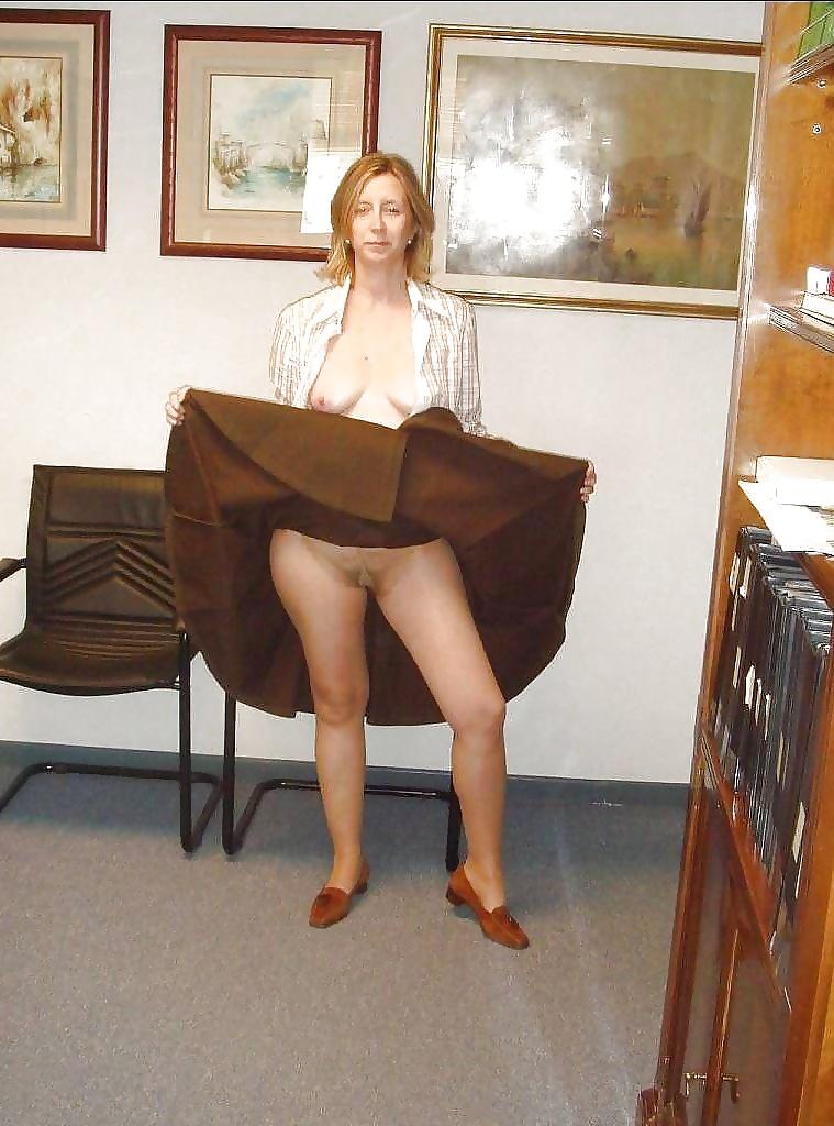 Mature plump wrap around skirt slit dress
