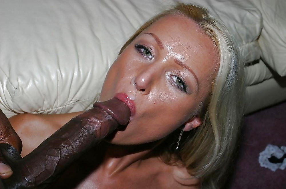 Blonde slut wife begs for more black cocks