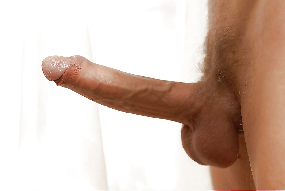 Nude guy with a long hard cut cock