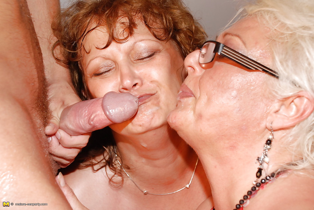 Boy seduces old granny and cums
