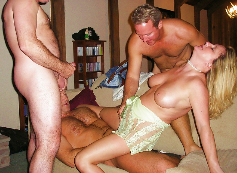 Swinger club party brunette