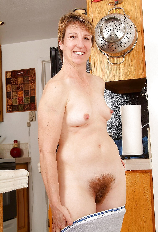 Mom has cum in her hairy cunt