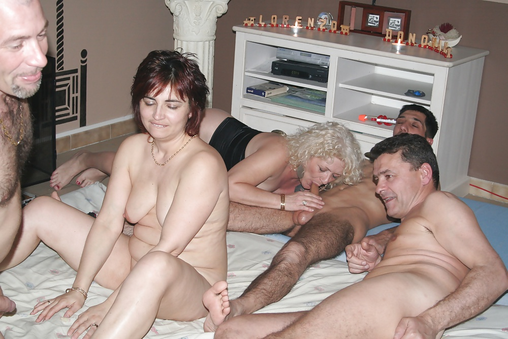 Two older couples porn pics